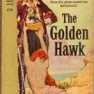 The Golden Hawk, Frank Yerby, Vintage Paperback Book, Pirate Adventure