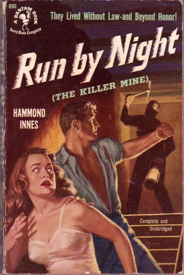 Run By Night, Hammond Innes, Vintage Paperback Book, Mystery, Bantam #890