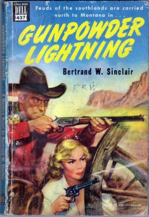 Gunpowder Lightning, Vintage Paperback Book, Dell Map Back #437, Western