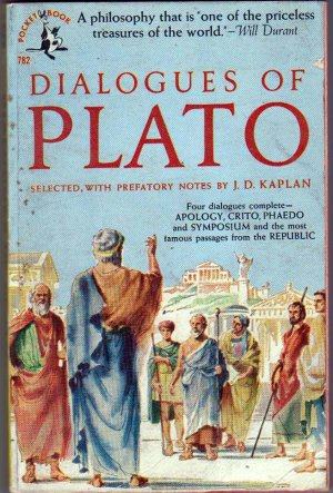 Dialogues of Plato, Kaplan, Vintage Paperback, Pocket Books #782, Philosophy