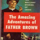 The Amazing Adventures of Father Brown, Vintage Paperback Book, Dell #819, Mystery