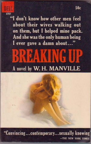 Breaking Up, W.H. Manville, Vintage Paperback Book, Dell #0797, Romance