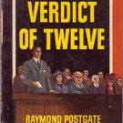Verdict of Twelve, Raymond Postgate, Vintage Paperback, Pocket Books #331, Mystery