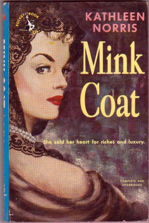 Mink Coat, Kathleen Norris, Vintage Paperback, Pocket Books #625, Romance
