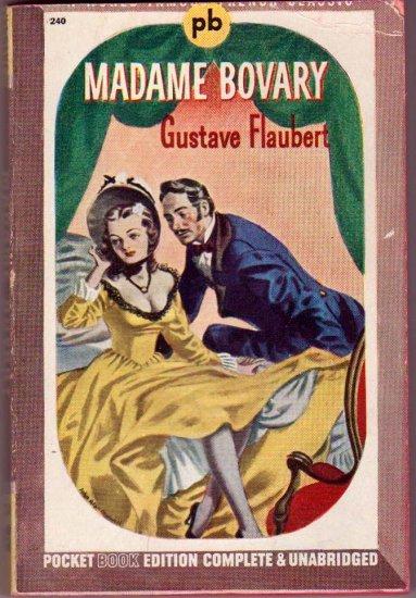 Madame Bovary, Flaubert, Vintage Paperback, November 1943, Pocket Books #240, Romance Classic