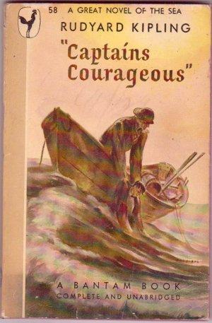 Captains Courageous, Kipling, Vintage Paperback Book, Bantam #58, Classics, Adventure
