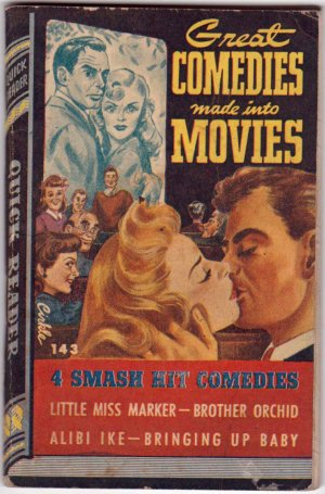 Great Comedies Made Into Movies, Vintage Paperback Book, Quick Reader #143, Humor, PBO