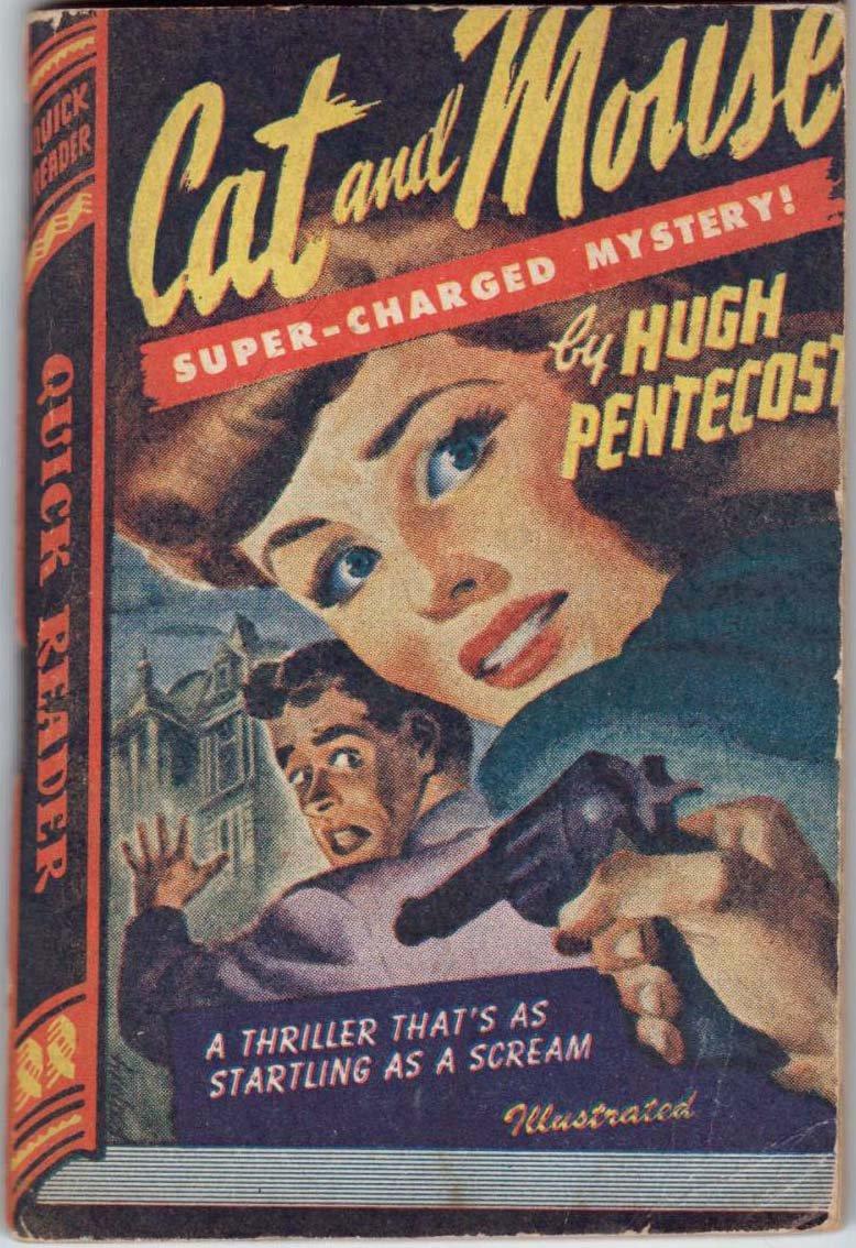 Cat and Mouse, Hugh Pentecost, Vintage Paperback Book, Quick Reader #128, Murder Mystery, Crime
