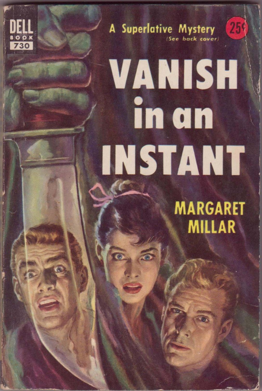 Vanish In An Instant, Millar, Vintage Paperback Book, Dell # 730, Murder, Mystery