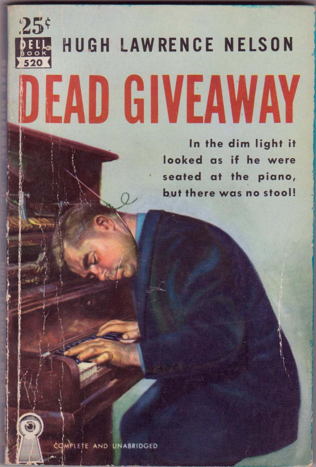 Dead Giveaway, H.L. Nelson, Vintage Paperback Book, Dell Mapback #520, Mystery
