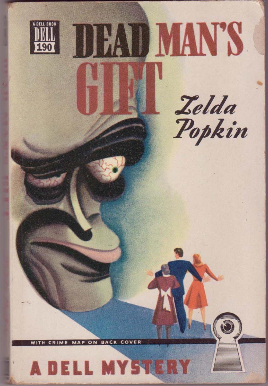 Dead Man's Gift, Zelda Popkin, Vintage Paperback Book, Dell Mapback #190, Mystery
