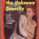 The Unknown Quantity, Eberhart, Vintage Paperback Book, Dell #811, Murder, Detective, Mystery