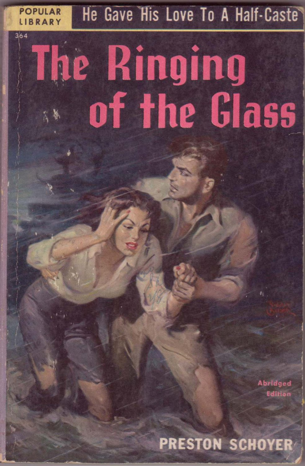 The Ringing Of The Glass, Schoyer, Vintage Paperback Book, Popular Library #364, Mystery