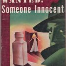 Wanted: Someone Innocent, Allingham, Vintage Paperback Book, Pony #56, Murder, Mystery