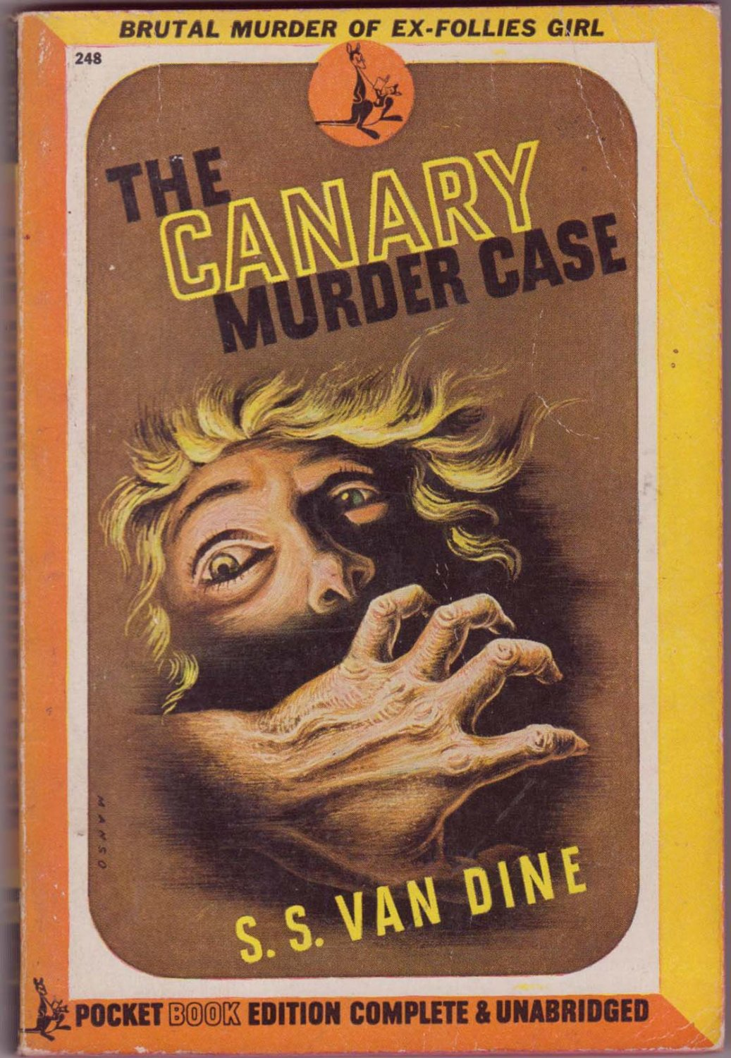 The Canary Murder Case, S.S. Van Dine, Vintage Paperback, Pocket Book #248, Mystery