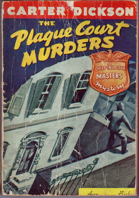 The Plague Court Murders, Carter Dickson, Vintage Paperback Book, Avon NO#-7, Mystery