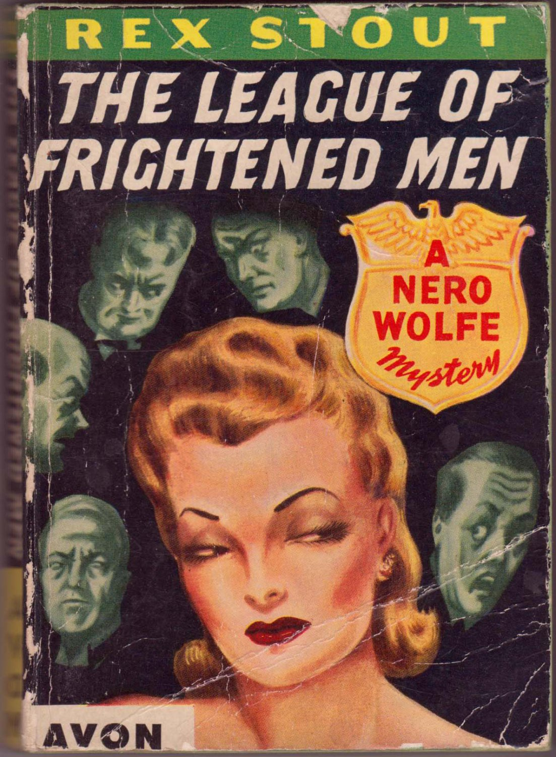 The League Of Frightened Men, Rex Stout, Vintage Paperback Book, Avon NO#-20, Mystery