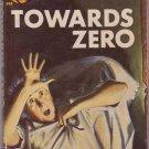 Towards Zero, Agatha Christie, Vintage Paperback, Pocket Book #398, Murder Mystery