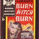 Burn Witch Burn, A. Merritt, Vintage Paperback Book, Avon Murder Mystery Monthly #5, Digest