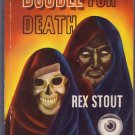 Double For Death, Rex Stout, Vintage Paperback Book, Dell Mapback #9, Mystery