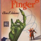 The Crooking Finger, Cleve F. Adams, Vintage Paperback Book, Dell Map Back #104, Mystery