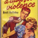 A Taste For Violence, Brett Halliday, Vintage Paperback Book, Dell Map Back #426, Mystery