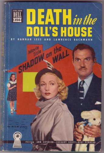 Death In The Doll's House, Hannah Lees, Vintage Paperback Book, Dell Map Back #356, Mystery