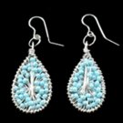 Silver Blue Earrings