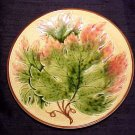 Antique German Majolica Maple Leaf Plate Zell, gm289