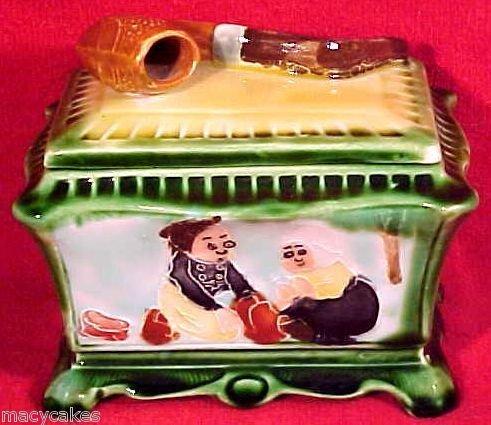 Antique Austrian Pipe Tobacco Jar Humidor c.1850-1910, gm580