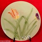 Antique GERMAN MAJOLICA TULIPS PLATE ZELL 1907-1938, gm512
