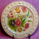 ANTIQUE QUEEN&#39;S WARE STAFFORDSHIRE MAJOLICA PLATE, em2