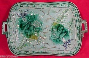 ANTIQUE GERMAN MAJOLICA PLATTER c. 1850-1880, gm409