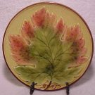 VINTAGE GERMAN MAJOLICA Maple Leaf PLATE ZELL, gm272
