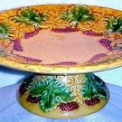 ANTIQUE GERMAN MAJOLICA  COMPOTE SCHRAMBERG, gm266