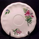 ANTIQUE FRENCH LUNEVILLE FAIENCE TULIP SAUCER, ff112