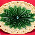 majolica ANTIQUE GERMAN MAJOLICA LILY PLATTER c.1912, gm406