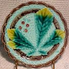 ANTIQUE VILLEROY & BOCH MAJOLICA POTTERY PLATE, pc4