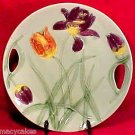 ANTIQUE GERMAN MAJOLICA TULIPS PLATTER ZELL, gm467