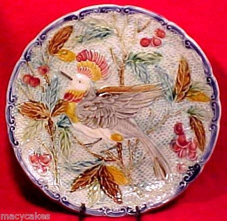 ANTIQUE WASMUEL MAJOLICA PLATTER c.1890-1900, fm411