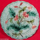 ANTIQUE SARREGUEMINES & VB  MAJOLICA PLATE c1818-1850, pc23