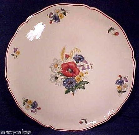 Large Antique Sarreguemines majolica faience platter, ff196