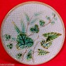 Antique German Majolica Plate c.1800's Leaves & Weave, gm631