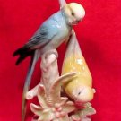 antique vintage porcelain parakeets lovebirds figurine, gm361