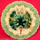 Antique German Sarreguemines Majolica Pottery Plate circa 1886, gm626