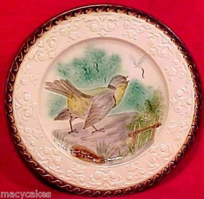ANTIQUE SARREGUEMINES MAJOLICA POTTERY PLATE c.1790-1830, pc25