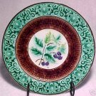 ANTIQUE SARREGUEMINES & VB  MAJOLICA POTTERY PLATE 19thC, gm199