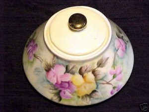 BEAUTIFUL BAVARIAN HANDPAINTED DRESSER BOX