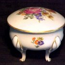 BEAUTIFUL GERMAN PORCELAIN VEB DRESSER BOX CIRCA 1949+