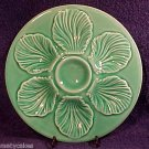 BEAUTIFUL VINTAGE MAJOLICA POTTERY CELEDON OYSTER PLATE FRANCE c.1950&#39;s, op113